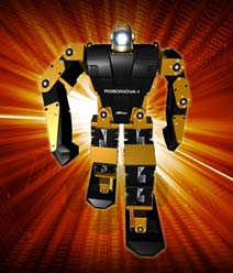Come and see the HiTEC robots dancing wireless controlled by BlueSerial Bluetooth technology