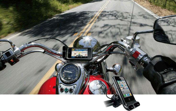 Sehr gute iPhone Halterung mit tollen und innovativen Designideen für Motorräder