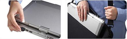 Der MoGo Dapter Bluetoothadapter kann auch beim Transport des Notebooks engesteckt bleiben da er kaum aufträgt und abgerundet ist